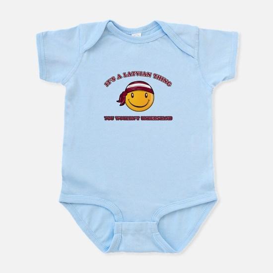 Latvian Smiley Designs Infant Bodysuit