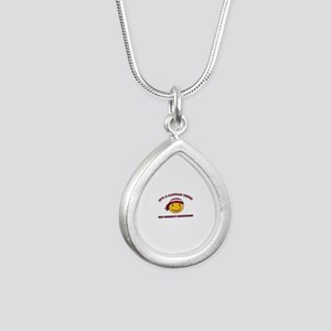 Latvian Smiley Designs Silver Teardrop Necklace