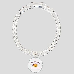 Latvian Smiley Designs Charm Bracelet, One Charm
