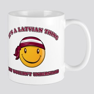 Latvian Smiley Designs Mug