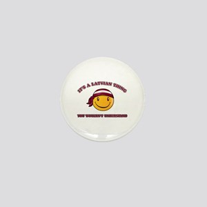 Latvian Smiley Designs Mini Button