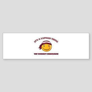 Latvian Smiley Designs Sticker (Bumper)
