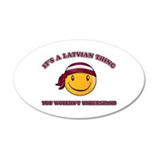Latvian Smiley Designs Wall Sticker