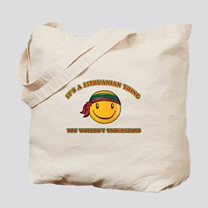 Lithuanian Smiley Designs Tote Bag