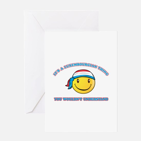 Luxembourger Smiley Designs Greeting Card