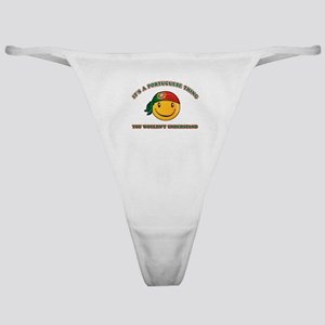 Portuguese Smiley Designs Classic Thong