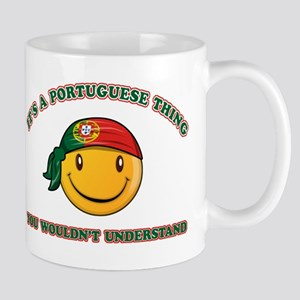 Portuguese Smiley Designs Mug