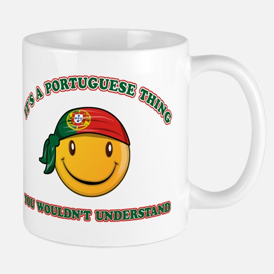 Portuguese Smiley Designs Mug