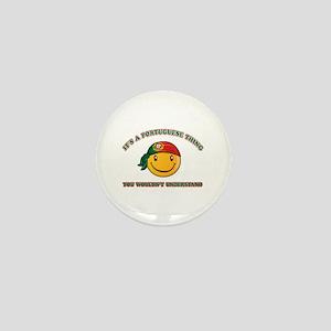 Portuguese Smiley Designs Mini Button