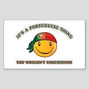 Portuguese Smiley Designs Sticker (Rectangle)