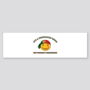 Portuguese Smiley Designs Sticker (Bumper)