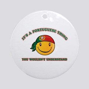 Portuguese Smiley Designs Ornament (Round)