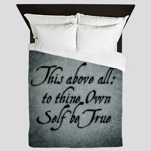 To Thine Own Self Be True Queen Duvet