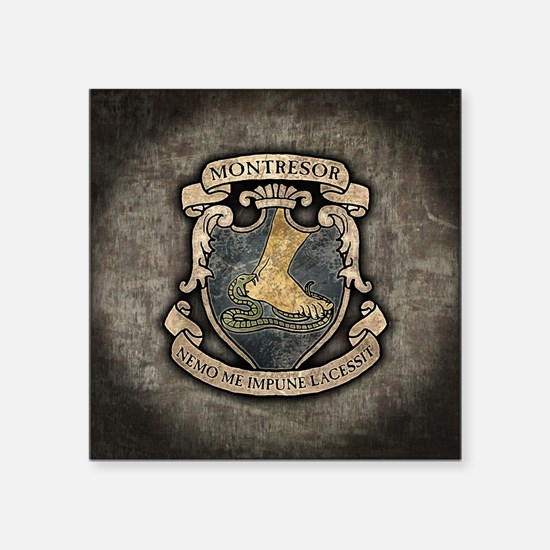 "Montresor Coat Of Arms Square Sticker 3"" x 3"""