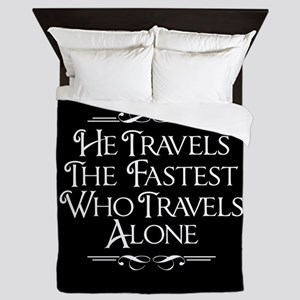 Who Travels Alone Queen Duvet