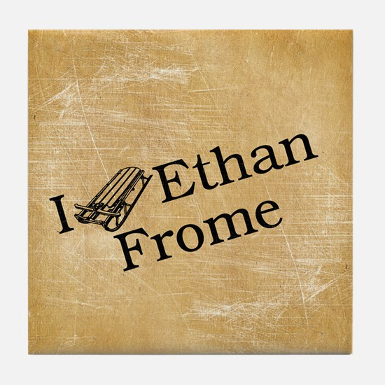 I (Sled) Ethan Frome Tile Coaster