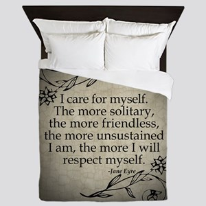Jane Eyre Care For Myself Queen Duvet