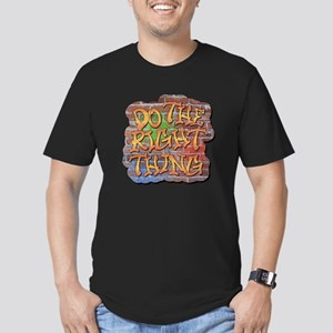 Do the Right Thing Men's Fitted T-Shirt (dark)