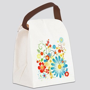 Multi Floral designer pattern Canvas Lunch Bag