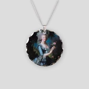 Marie Antoinette Portrait Necklace Circle Charm