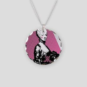 Marie Antoinette Pop Art Necklace Circle Charm