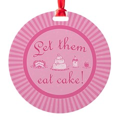 Sweet Pink Let Them Eat Cake Ornament