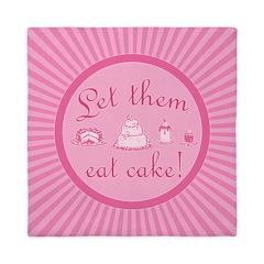 Sweet Pink Let Them Eat Cake Queen Duvet