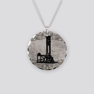 Guillotine Necklace Circle Charm