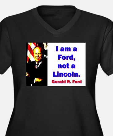 I Am A Ford - Gerald Ford Women's Plus Size V-Neck