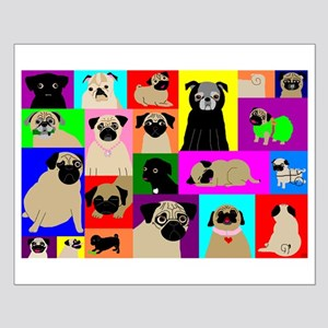 Lots o Pugs Small Poster