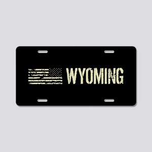 Black Flag: Wyoming Aluminum License Plate