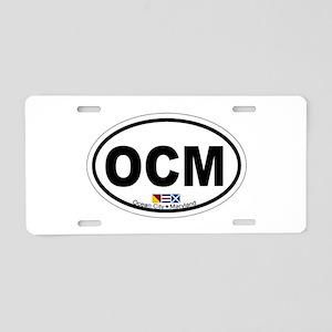 Ocean City MD - Oval Design. Aluminum License Plat