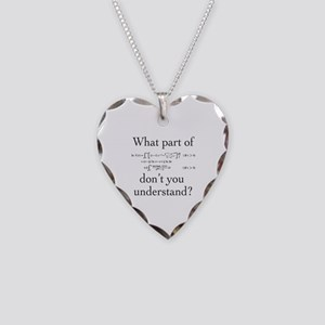 What Part of... Necklace Heart Charm