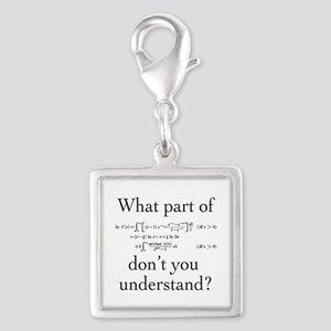 What Part of... Silver Square Charm