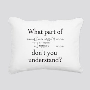 What Part of... Rectangular Canvas Pillow