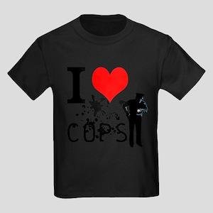i love cops Kids Dark T-Shirt