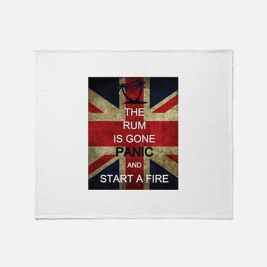 Rum Panic Throw Blanket