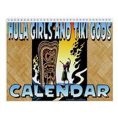 Hula Girls and Tiki Gods Calendar Wall Calendar