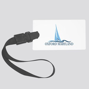 Oxford MD - Sailboat Design. Large Luggage Tag