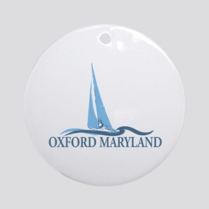 Oxford MD - Sailboat Design. Ornament (Round)