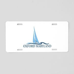 Oxford MD - Sailboat Design. Aluminum License Plat