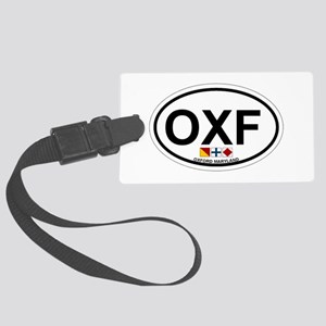 Oxford MD - Oval Design. Large Luggage Tag