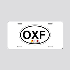 Oxford MD - Oval Design. Aluminum License Plate