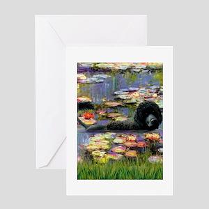5.5x7.5-Lilies2-PWD3-Lionswim Greeting Cards