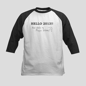 Hello 2013!! Kids Baseball Jersey