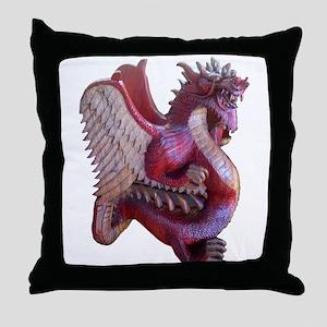 Wyvern Dragon Throw Pillow