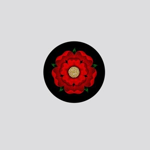 Red Rose Of Lancaster Mini Button