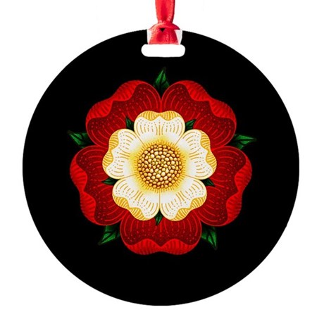 Tudor Rose Round Ornament