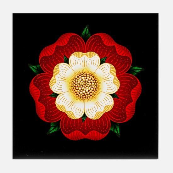 Tudor Rose Tile Coaster