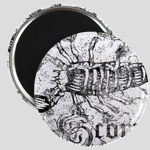 Worn Zodiac Scorpio Magnet